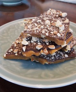Toffee with Dark Chocolate and Almonds